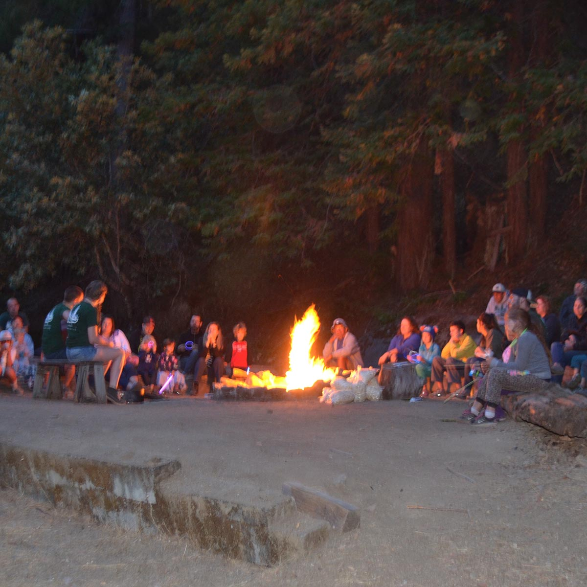 Family Camp Fire